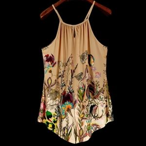 LILY by Firmiana Women's Sleeveless Floral Blouse